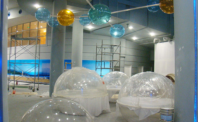 High Quality Customized Thick Acrylic Ball Cover Fish Tank